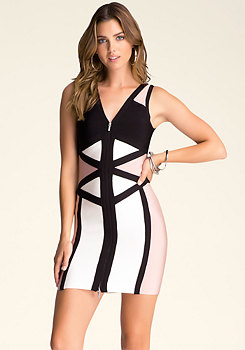 bebe Lila Colorblock Dress