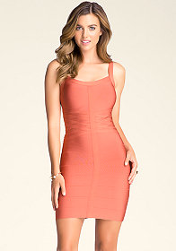 bebe Basketweave Bodycon Dress