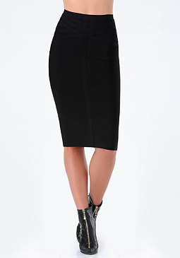 Bodycon Midi Skirt at bebe