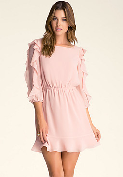 bebe Ruffle Sleeve Dress