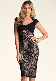 Shelly Lace Midi Dress at bebe