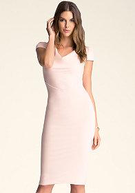 bebe Cowl Neck Dress