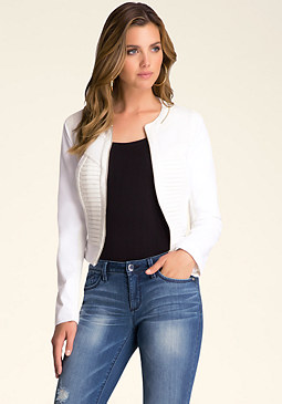 bebe Sculpted Scuba Mesh Jacket