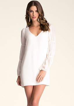 bebe Plunging V-Neck Shift Dress