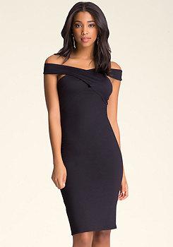 bebe Crossfront Dress
