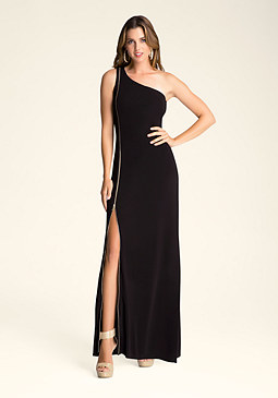 bebe One Shoulder Maxi Dress