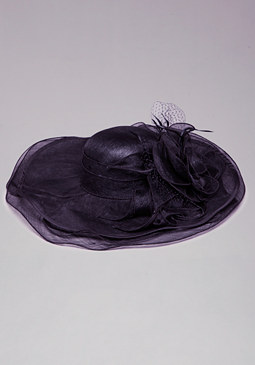 bebe Derby Hat With Netting