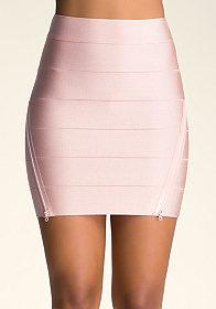 bebe Bodycon Zipper Skirt