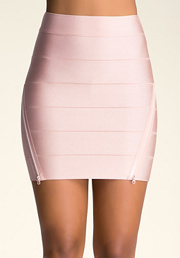 bebe Bodycon Zipper Skirt