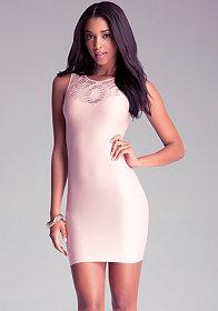 bebe Piper Lace Cutout Dress