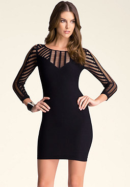 bebe Willow Open Shoulder Dress