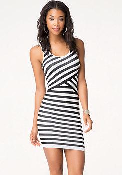 bebe Zoey Striped Tank Dress