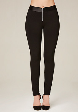 bebe Front Zip Leggings