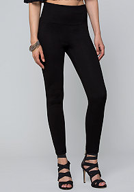 bebe High Waist Zip Leggings