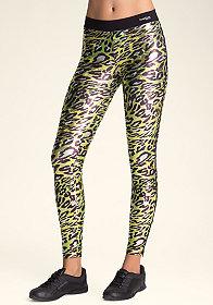 bebe Printed Zipper Leggings