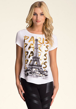 PARIS GRAPHIC TEE at bebe