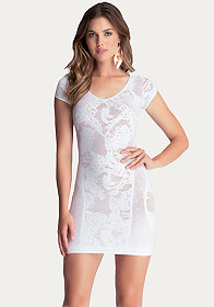 Jordana Short Sleeve Dress at bebe