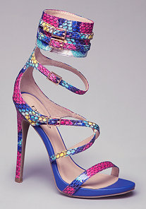 MILLA ANKLE CUFF SANDALS at bebe