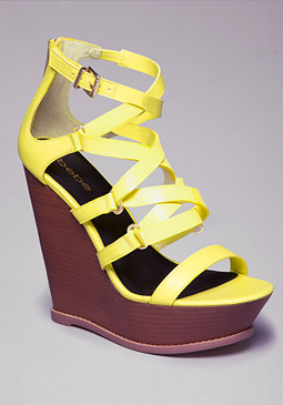 Liora Strappy Wedges at bebe