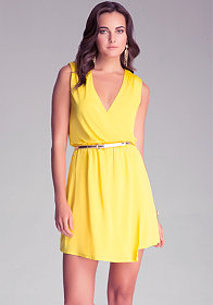bebe Lexie Surplice Jersey Dress