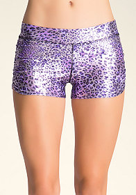 bebe Ruched Print Shorts