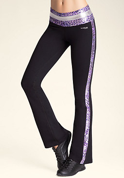 bebe Colorblock Workout Pants