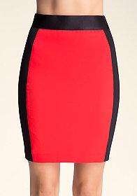 bebe Ponte Twill Skirt