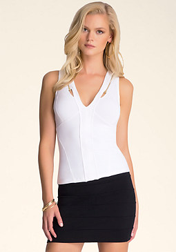 Zipper Tank Top at bebe