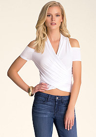 bebe Cold Shoulder Top