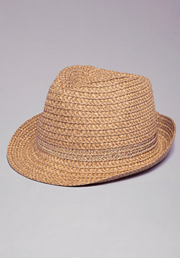 bebe Metallic Tribal Fedora