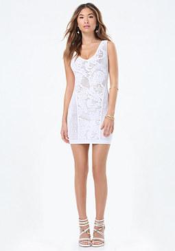 bebe Jordana Lace Tank Dress