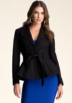 bebe Vivian Wool Peplum Jacket