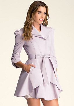 bebe Stacy Shimmer Trench Coat