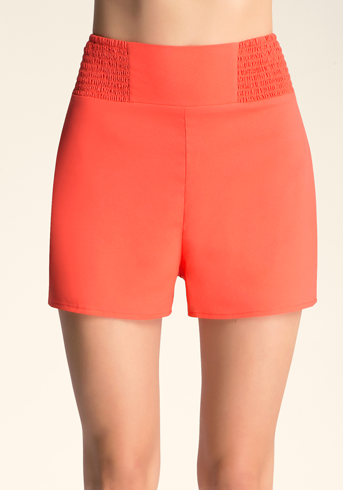 Smocked High Waist Shorts