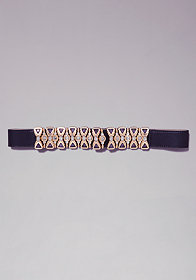 bebe Multi Jewel Stretch Belt