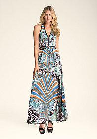 bebe Halter Maxi Dress