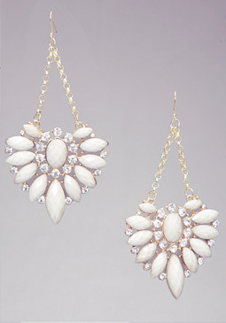 STONE & CRYSTAL EARRINGS at bebe
