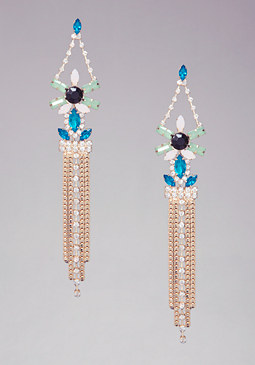bebe Floral Boxchain Earrings