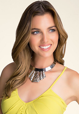bebe Textured Collar Necklace