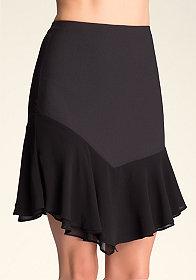 bebe Asymmetric Hem Skirt