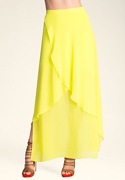 3 Layer Maxi Skirt at bebe