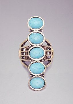 bebe Linear Stone Cocktail Ring