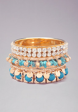 bebe Bead Stone Crystal Bracelet