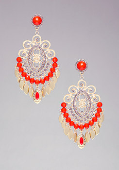bebe Tribal Bead Earrings
