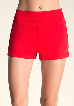 bebe Stacked Waist Shorts