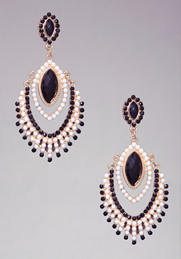 bebe Opaque Stone Earrings