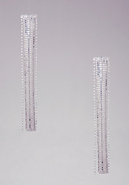 bebe Mesh & Crystal Earrings