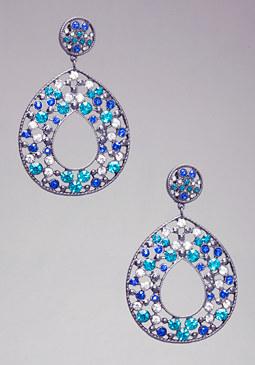 bebe Cutout Crystal Earrings