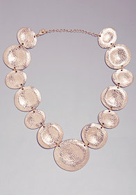 bebe Textured Station Necklace