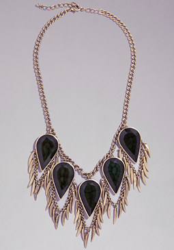 bebe Teardrop & Spikes Necklace